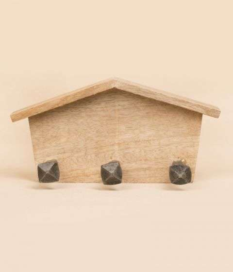 Iron Hook on wooden base - Home with 3 nails