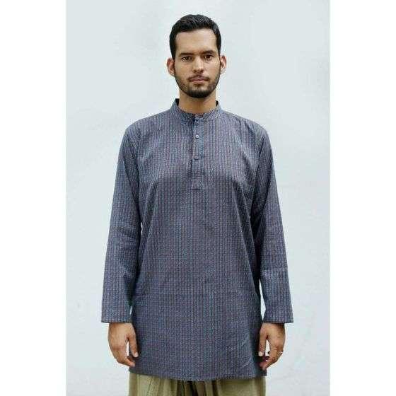 Men Cotton Striped Kurta - Blue
