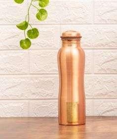 Copper Water Bottle with Logo, 950 ml