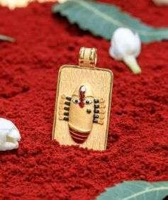 Linga Bhairavi 22KT Gold Pendant - 24 gm (Sandal)