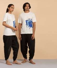 Unisex Off White Nandi Printed T-Shirt - Organic Cotton