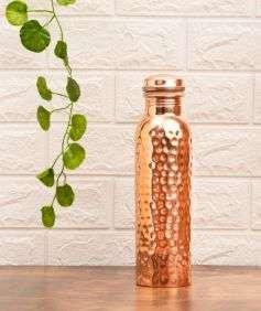 Hammered Copper Water Bottle, 950 ml