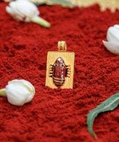 Linga Bhairavi 22KT Gold Pendant - 8 gm (Kumkum)