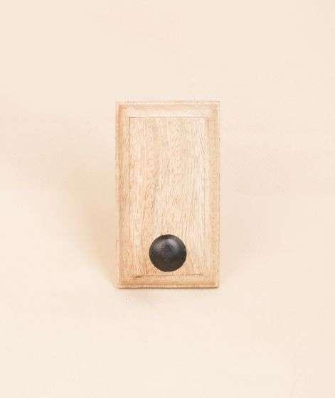 Iron Hook on wooden base - Single Nail