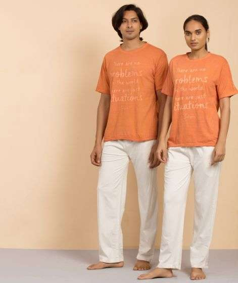 Unisex Organic Natural Dyed Situations T-Shirt - Carrot