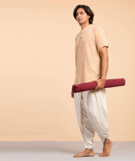 Cotton Yoga Mat Rubber Coated