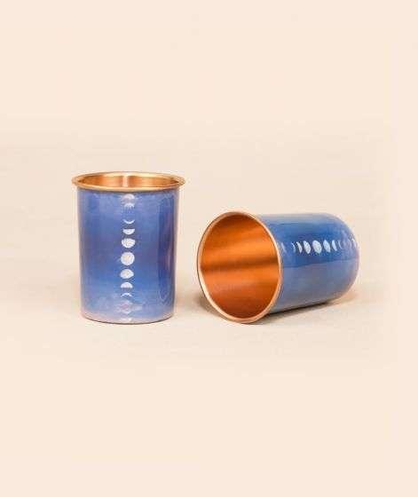Set of 2 Mystic Moon Copper Glass, 200 ml each