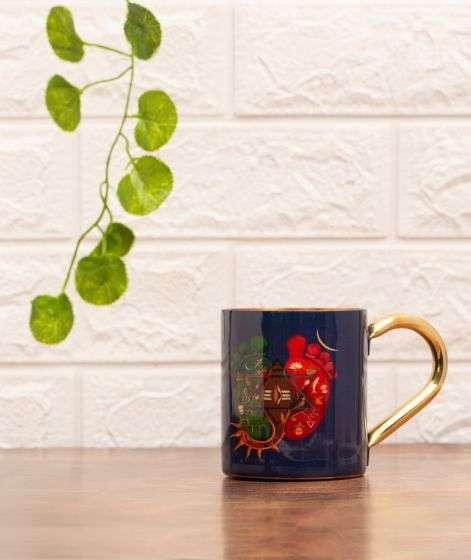 Padam Copper Mug with Handle, 414 ml