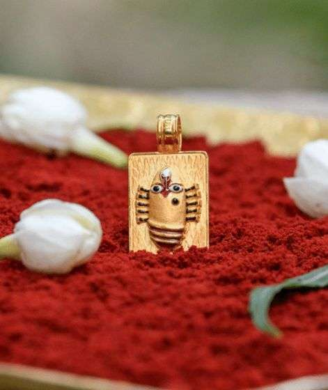 Linga Bhairavi 22KT Gold Pendant - 8 gm (Sandal)