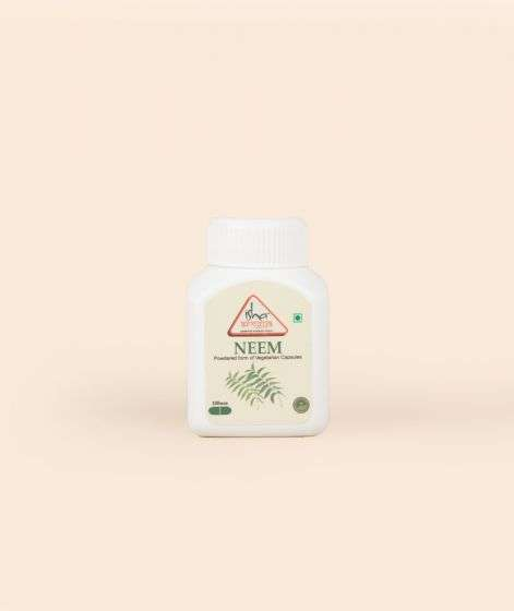 Neem Powder in Veg Capsules, 100 pcs