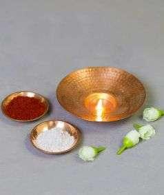 Copper Tea Light Holder