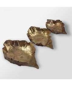 Metal Leaf Deepam Small