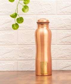 Copper Water Bottle with Logo, 950 ml