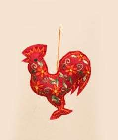 Indian Rooster Ornament
