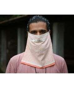 Yogeshwaraya Fabric Mask Single Layer Big - Half Moon
