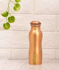 Copper Water Bottle with Logo (Type 2), 300 ml