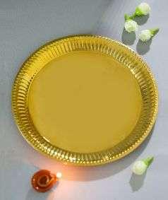 Sannidhi Big Brass Plate