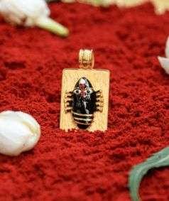 Linga Bhairavi 22KT Gold Pendant - 4 gm (Black)