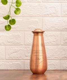 Small Copper water Bottle with Sadhguru Quote