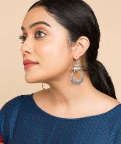 Kamal Tabeez Silver Earrings