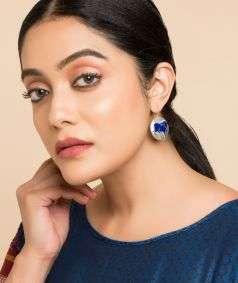 Nandi Dark Blue Earrings