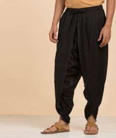 Unisex Organic Cotton Dhoti Pant - Black