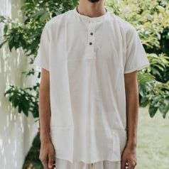 Men Undyed Organic Cotton Kurta - Off-White