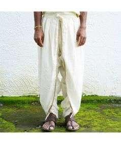 Men Hatha Yoga Teacher Dhoti Pant - White