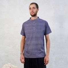 Mens Hand Spun, Hand-woven Short Sleeve Kurtha Chorcol