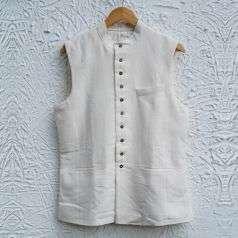 Handspun, Handwoven Bengal Cotton Vest Style-1
