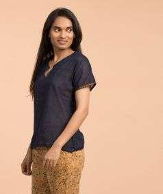 Women Mangalagiri Cotton Top