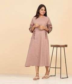 Womens Ajrakh print Dress Style 4