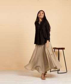Mulmul Plain Skirt Beige