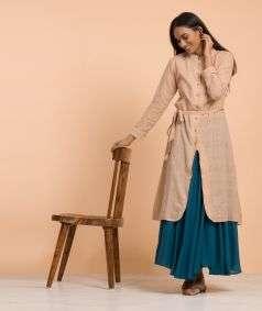 Mulmul Plain Skirt Blue