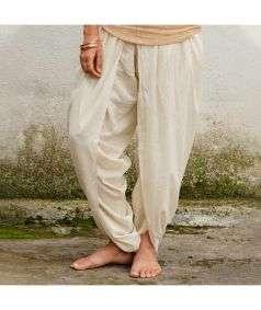 Women Undyed Organic Cotton Dhoti Pant - Off-White