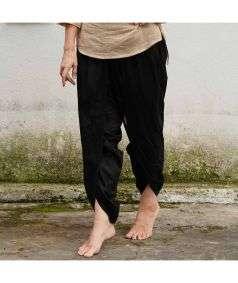Women Organic Cotton Dhoti Pant - Black