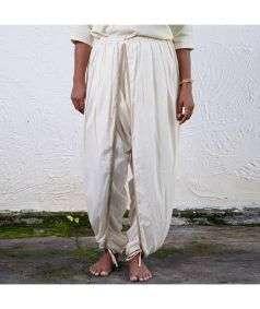 Women Hatha Yoga Teacher Dhoti Pant - White