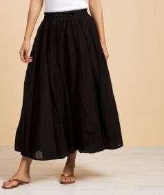Mulmul Plain Skirt Black