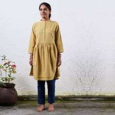Ladies Natural Dyed Mustard KM 1