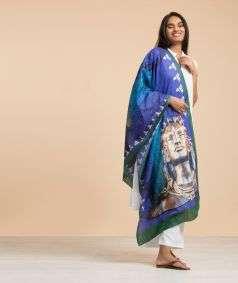 Adiyogi Printed Shawl Cotton