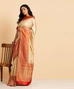 Handloom Banarasi Tanchoi Silk Saree Style 1