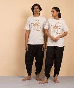 Unisex Cotton Sakshi Copper Printed T-shirt - Ecru