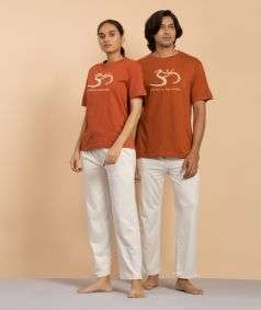 Unisex Organic Cotton Aum T-shirt - Brick