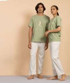 Unisex Organic Cotton Harvest the Ultimate T-shirt - Green- Embroidery