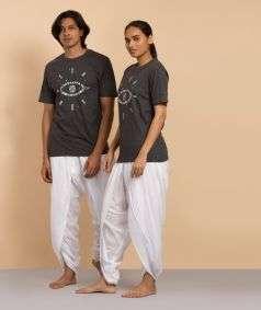 Unisex Cotton Nirvaana Printed T-shirt - Dark Grey