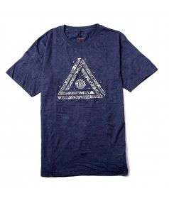 Unisex Cotton Maya Printed T-Shirt - Indigo