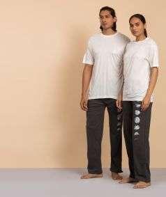 Unisex Linen Solid T-shirt - White