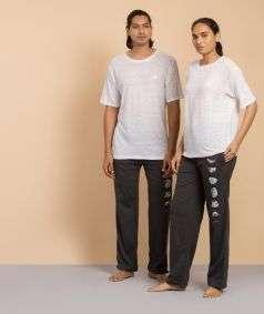 Unisex Off-White Bamboo Half Sleeve T-shirt