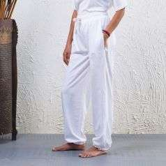 Unisex Organic Cotton Sadhana Track Pant - White