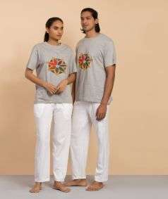 Natural dyed T shirt Kundalini